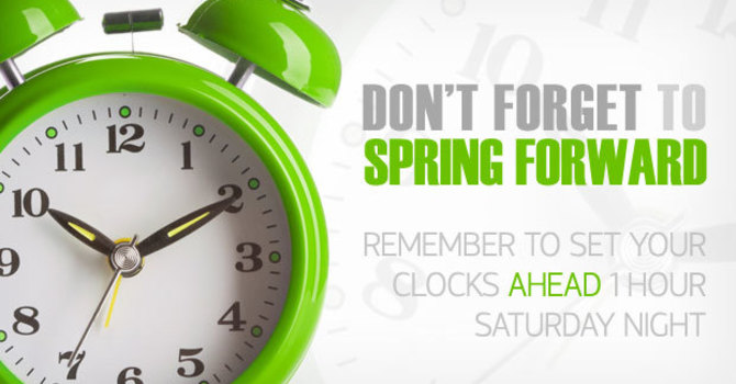 Spring Forward this Sunday! image