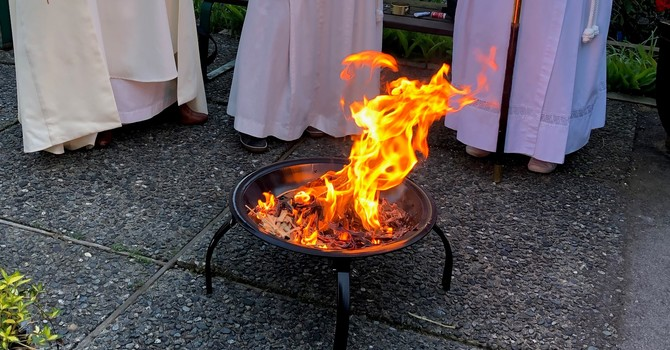 The New Fire of Easter is Lit image
