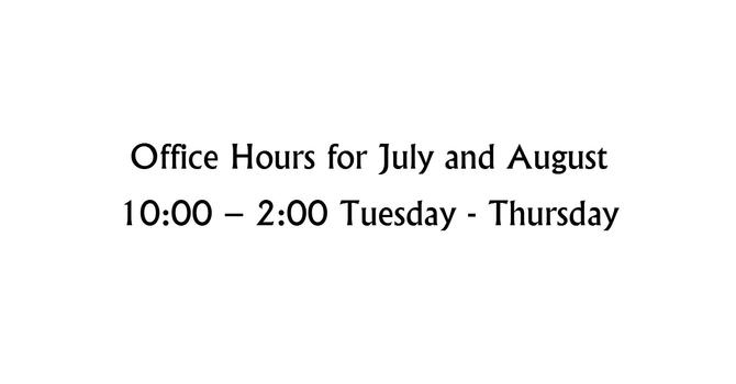 Office Hours for July & August image
