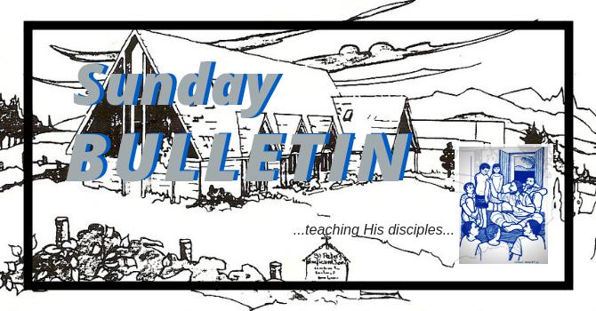 Bulletin - Sunday, September 23, 2018 image
