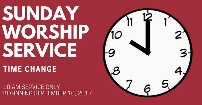 Sunday Service - Time Change image