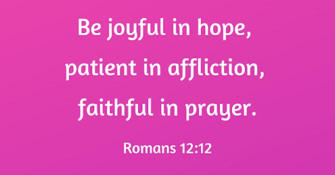 Romans 12:12 image