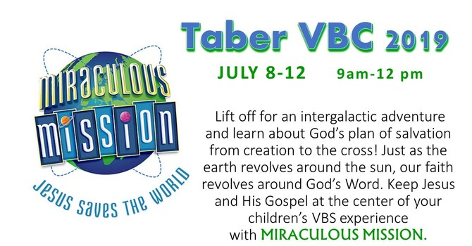 Taber Vacation Bible Camp! image