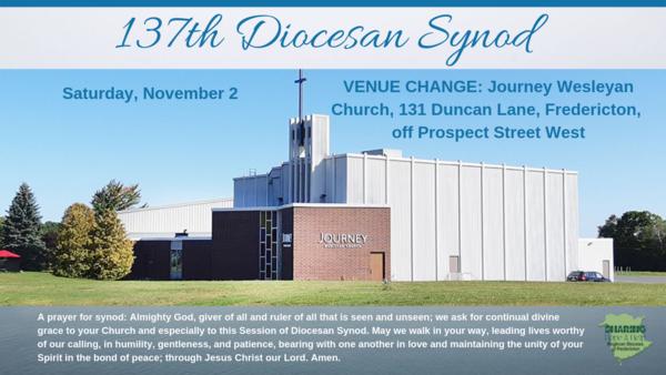 Diocesan Synod - Nov. 2 in Fredericton