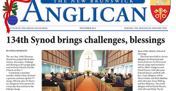 New Brunswick Anglican December 2015 image