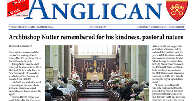 New Brunswick Anglican October 2017 image