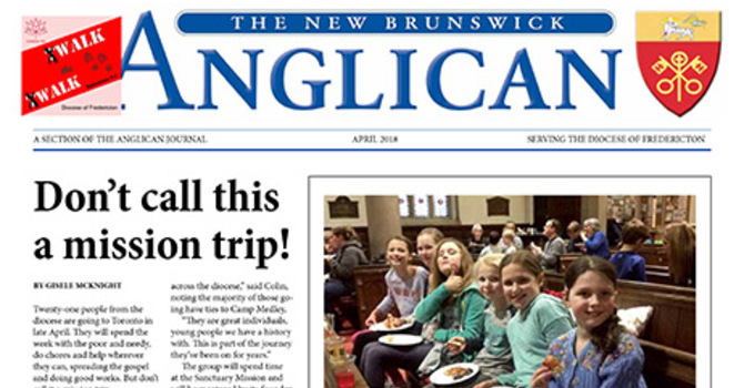 New Brunswick Anglican April 2018 image