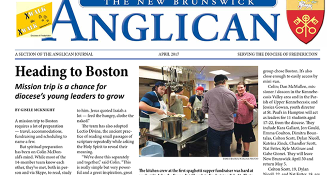 New Brunswick Anglican April 2017 image