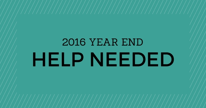Year End Help Needed image