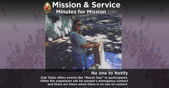 Minute for Mission: No One to Notify image