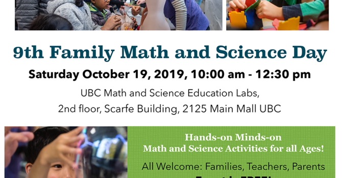 UBC 9th Family Math and Science Day image