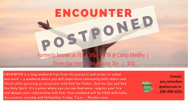 Encounter is postponed
