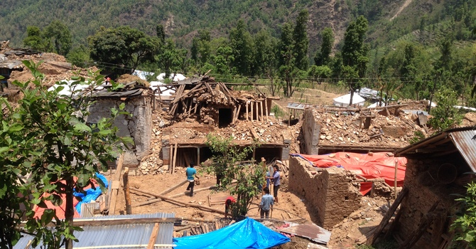 Damage assessed in Nepali villages image