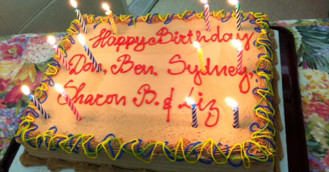 Birthday Cake and Candles image