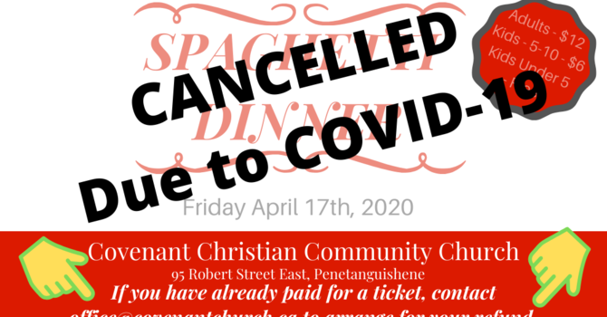 Spaghetti Dinner Cancellation & Refund