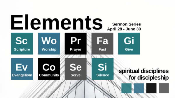 Elements: spiritual disciplines for discipleship
