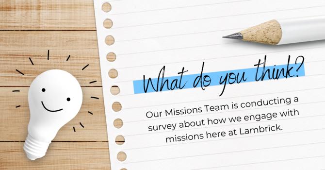 Missional Engagement Survey image