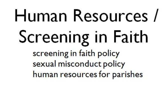 Screening in Faith/HR