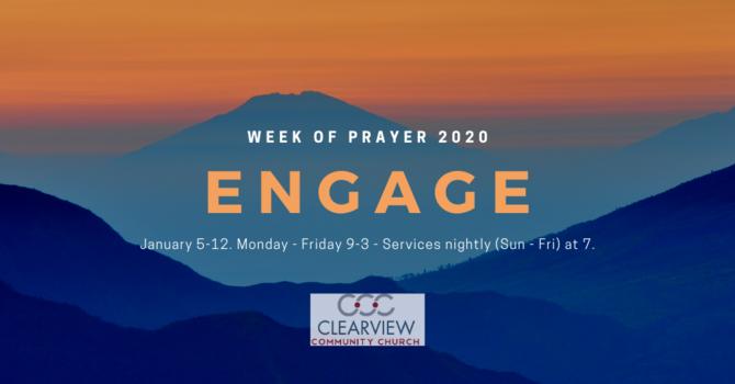 Week of Prayer - January 5-12, 2020 image
