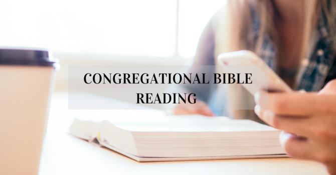 Congregational Bible Reading Plan