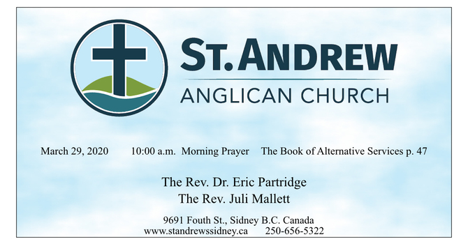 10:00 a.m. Sunday Service of Morning Prayer, March 29, 2020  image