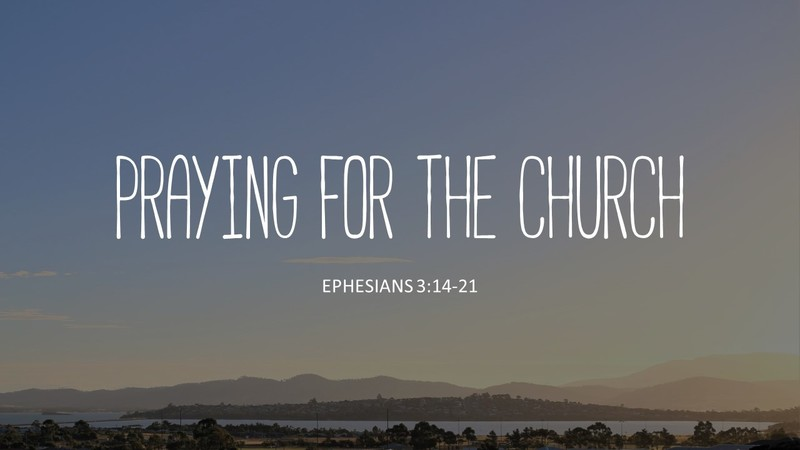 Praying for the Church
