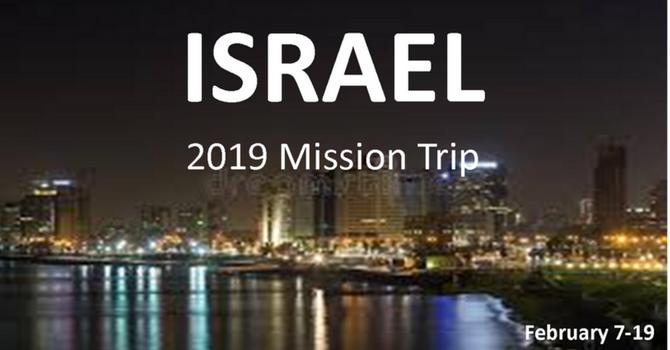 2019 Israel Mission Trip image