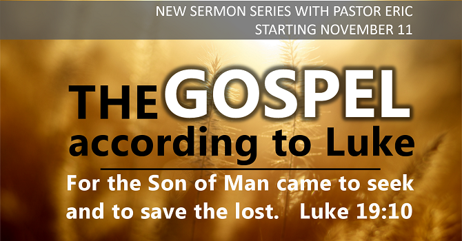 New sermon series with Pastor Eric image