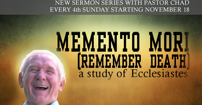 New sermon series with Pastor Chad image