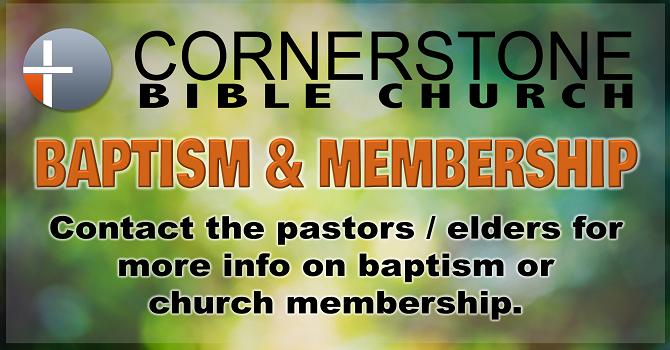 Baptism/Membership image