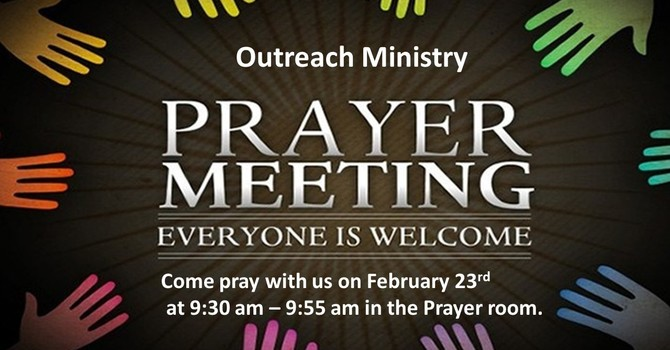 Outreach Ministry Prayer Meeting image