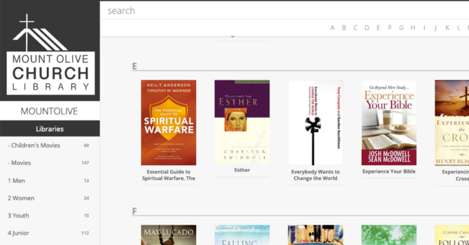 Church Library Now Online image