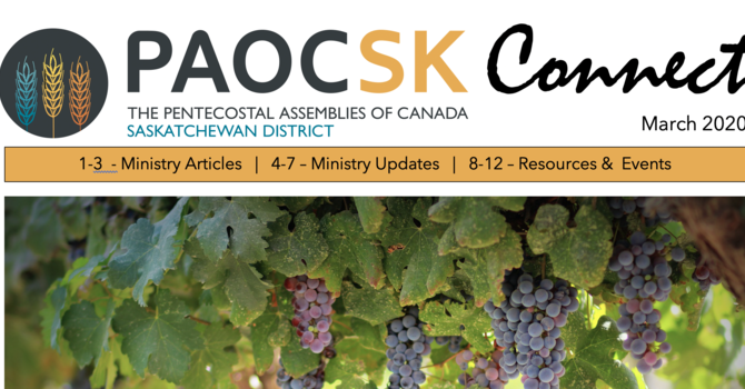 March 2020 PAOC SK CONNECT Newsletter image