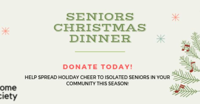 Donate today for the 2019 Seniors Christmas Dinner image