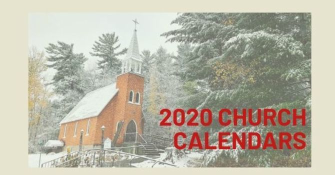 2020 Church Calendars image