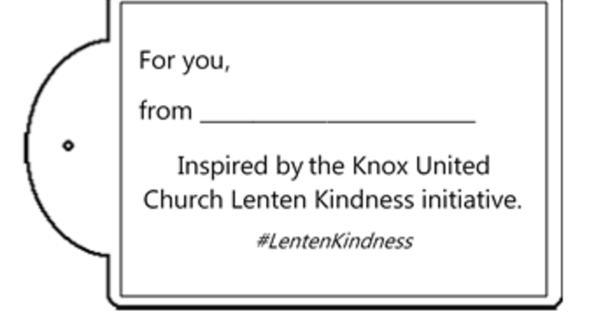 Acts of Lenten Kindness ~ gift tags  image
