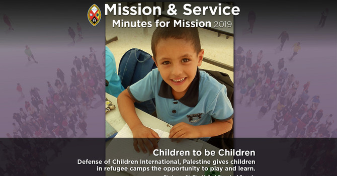 Minute for Mission: Children Deserve to Be Children image