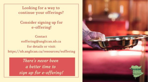 It's a good time to sign up for e-offering!