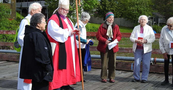 Boat Blessing at Masset Harbour image