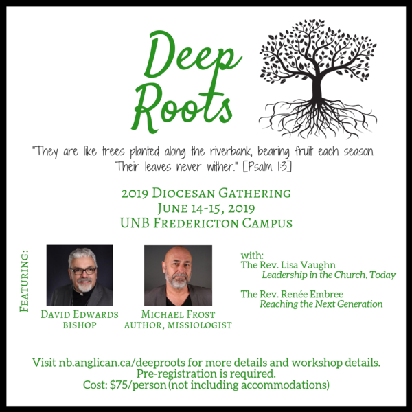 Deep Roots diocesan gathering is almost here!