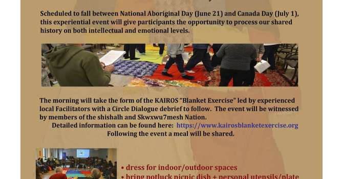 Reconciliation Circle and Blanket Exercise