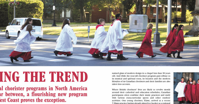 Cathedral choristers featured in international publication image