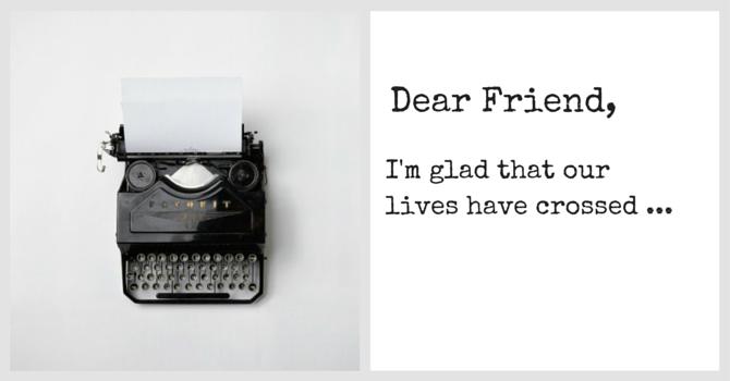 Dear Friend image