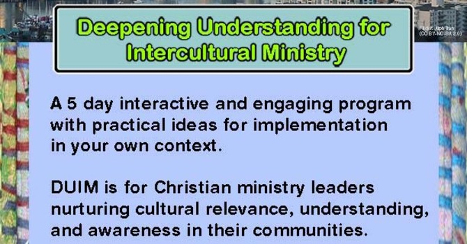 ENGAGE DIFFERENCE! Intercultural Minsitry