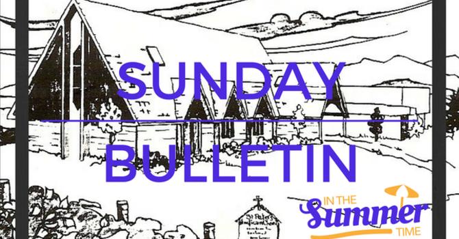 Sunday Bulletin - August 13, 2017 image