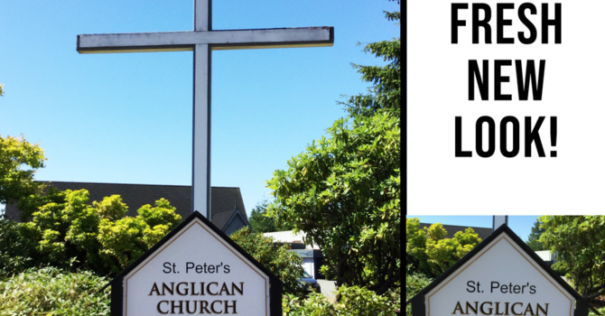 After 25 years - St. Peter's sign earned a makeover! image