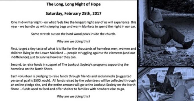 The Long, Long Night of Hope 2017 Sleepover