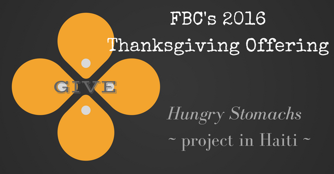 2016 Thanksgiving Offering - Thank you! image