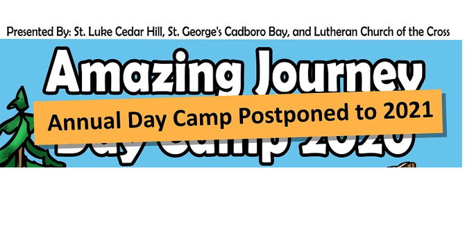 Postponed to 2021 - Amazing Journey Day Camp 2020  image