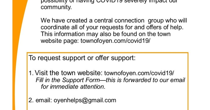 Oyen Helps -- a COVID Response Resource image